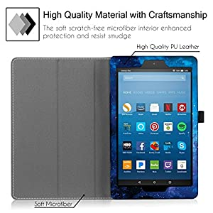 """Famavala Folio Case Cover with Auto Wake/Sleep Feature for 8"""" Fire HD 8 Tablet [7th Generation 2017 / 6th Generation 2016] 8-Inch Tablet (BlueSky)"""