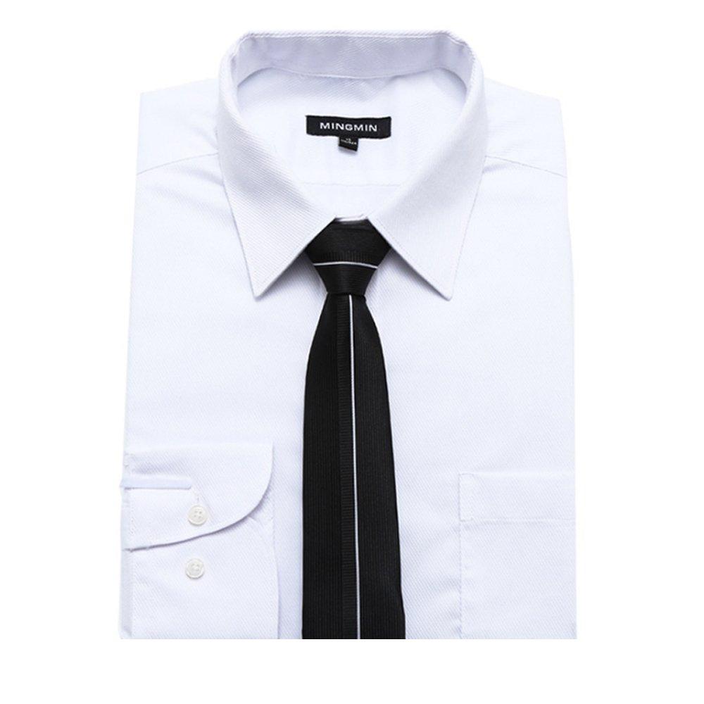 YYIILL Empate Corbata negra de los hombres del remiendo de la ...