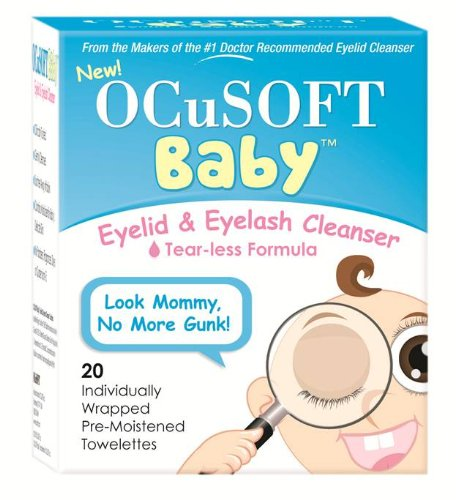 OCuSOFT Baby Eyelid and Eyelash Cleanser, Pre-Moistened Towelette, 20 Count
