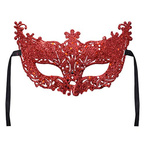 - Valentine's Day Carnival Mask Women's Sexy Costume Party Mask with Gift Masquerade Ball Mask Festival HunYUN Red