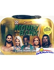 2019 Topps WWE Wrestling MONEY in the BANK EXCLUSIVE Factory Sealed MINI-BRIEFCASE TIN with AUTOGRAPH or RELIC! Look for Autos & Relics of Alexa Bliss, Seth Rollins, Carmella & Many More! WOWZZER!