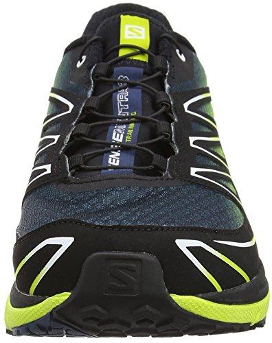 SalomonSense Mantra 3 - Zapatillas de running hombre Mehrfarbig (Slateblue/Gecko Green/Black)