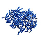 UXOXAS Insulated Bullet Style Male & Female Set Terminal Connectors - Blue (50-Pair Pack)