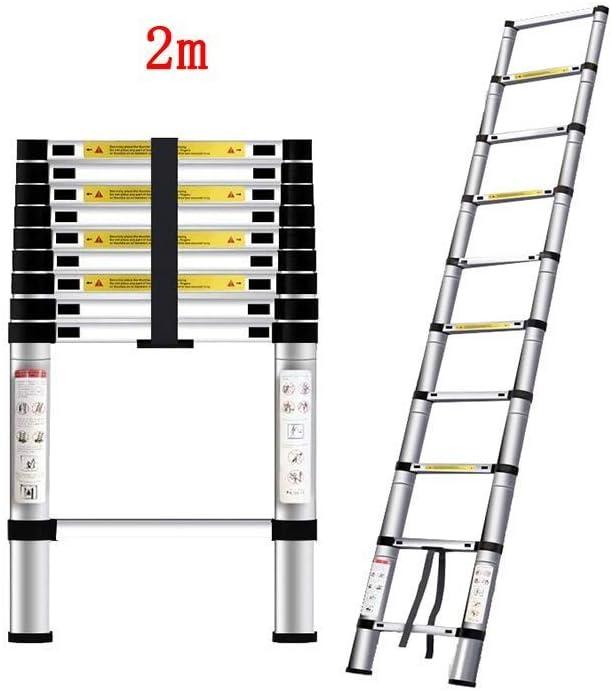 ZDTZ/L Escaleras Escalera Plegable Escalera en Espiga Escalera Recta for Interiores Escalera portátil Ascendente descendente Taburete de aleación de Aluminio Grueso (Size : 2M): Amazon.es: Hogar