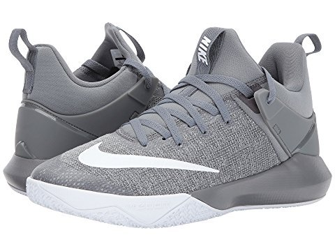 5a23ecc1c3b5 Galleon - NIKE Mens Zoom Shift Basketball Shoes (Grey White