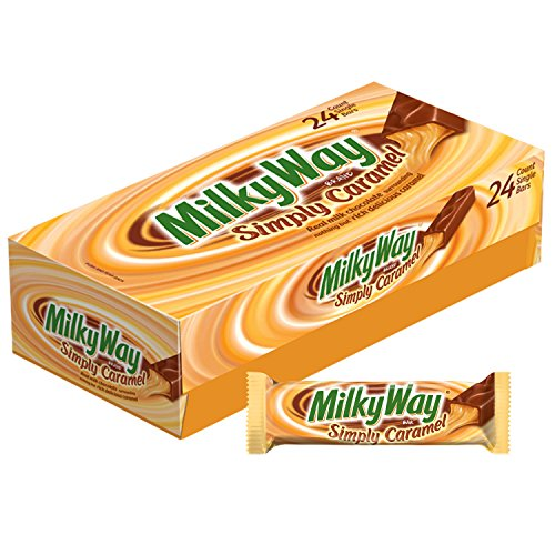 MILKY WAY Simply Caramel Milk Chocolate Singles Size Candy Bars 1.91-Ounce Bar 24-Count Box -
