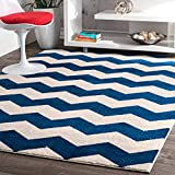 Cheap Geometric Chevron Vibe Zebra Kids Area Rug