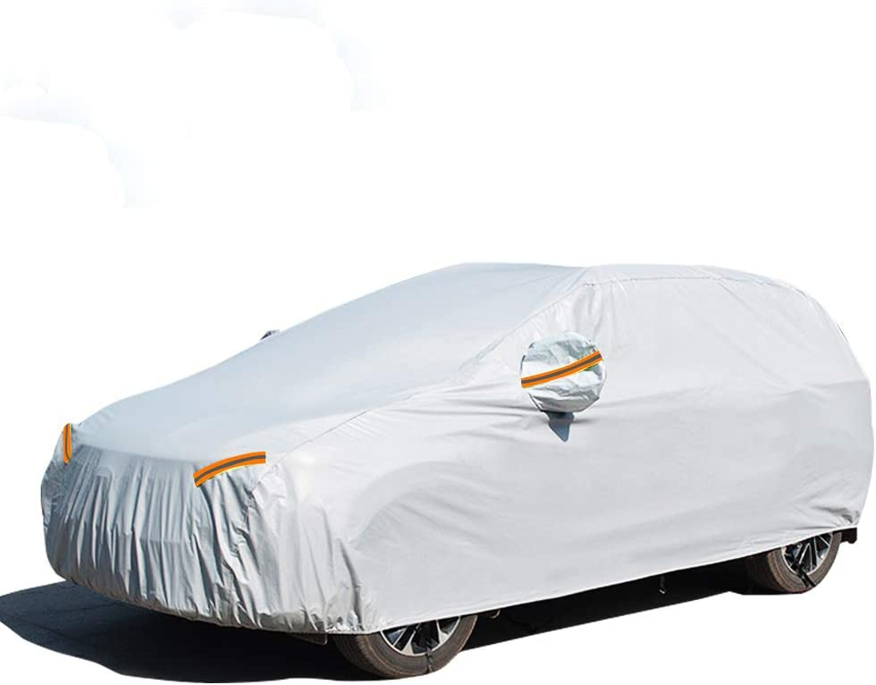 UV Protection Snowproof Waterproof Dustproof Full Car Covers with Zipper Cotton SUV GES 6 Layers Car Cover 190-201 Fit SUV//Jeep Universal Fit for Sedan