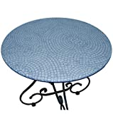 Fitted Vinyl Table Cloth Round with Elastic Edge