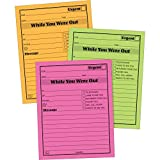 Tops 9711NEON Message Pad''While You Where Out'' 4''x5-1/2'' 6/PK Neon AST