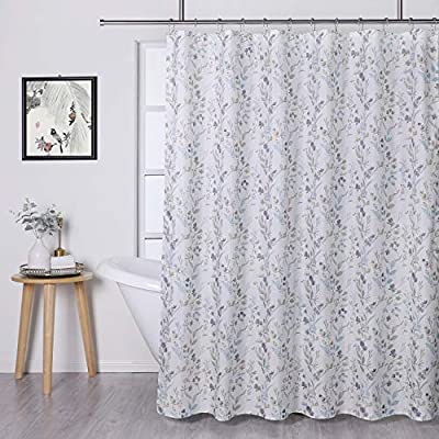 """Regal Home Collections Suzani Shower Curtain, 70 inch Wide X 72 inch Long, Floral Aqua - ✔️ READY MADE: The package consists one 70"""" inch Wide x 72"""" inch Long shower curtain, shower rings/hooks not included. ✔️ FASHION: The water-resistant printed polyester brings a classic look, adding depth and grace to your room decor. Giving you perfect balance between brightness and stylishness in all possible environment. ✔️ UPRAISE YOUR SPACE: Add a little sparkle to your bathroom with this classic yet modern shower curtain. The design is an elegant geometric print, and the fabric is lightweight and water-resistant that gives it just enough privacy while allowing some light to filter through. - shower-curtains, bathroom-linens, bathroom - 51jK 3ortiL. SS400  -"""