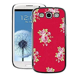 A-type Arte & diseño plástico duro Fundas Cover Cubre Hard Case Cover para Samsung Galaxy S3 (Rose Pattern Pink Lilac Purple Red)