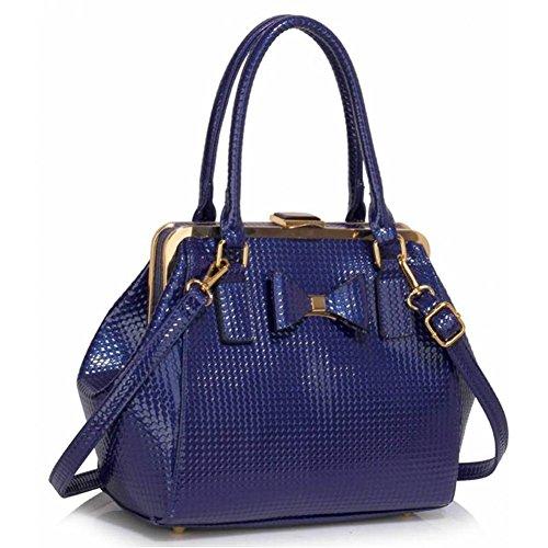 Qualité Simili Haute bleu Hnadsac Branché Vente Bow Leahward® Cws00258 Cuir Femme Sac Cws00258b Chaude Mignonne Tote Filles xf0wnXnqg8