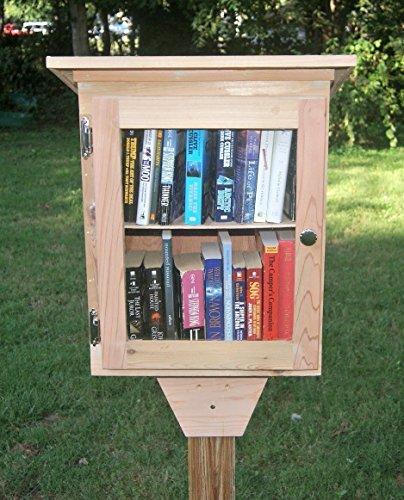 Tiny Library, with shelf, handmade cedar.