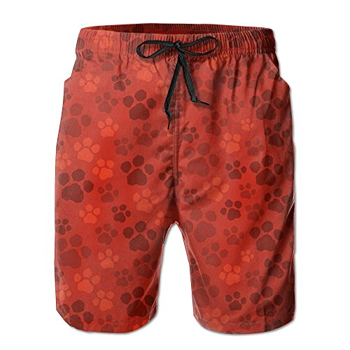 Dog Paw Mens Cool Quick Dry Lightweight Boardshorts Loose Fit Tie Waist Solid Swim Trunks With Pockets For Surf Running Swimming Watershort