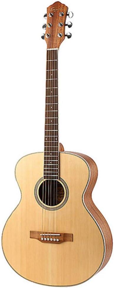 LOIKHGV Guitarras- 40 Spruce Panel Folk Acoustic Beginner Guitarra Diapasón de Palisandro Circular Bead Guitarra, Color de Registro, 40 Pulgadas