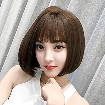 Amazon Com Korean Women Girls Female Short Hair Wig Side Sub Head