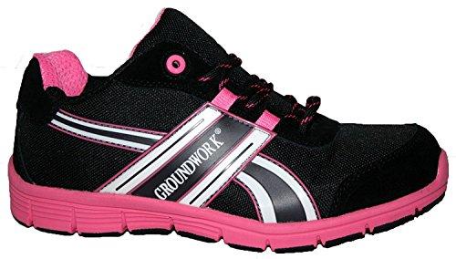 Gr95 Sécurité Adulte Mixte Chaussures noir Rose Groundwork De vwxqOdCOU