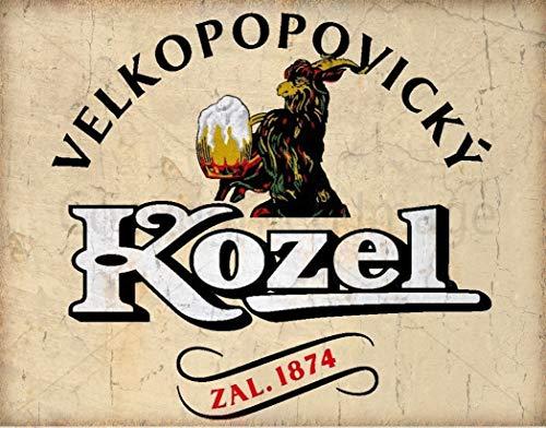 (heigudan Kozel Beer Czech Republic Vintage Metal Tin Sign)