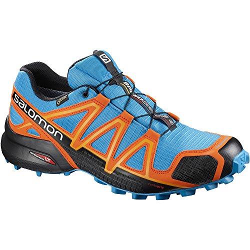 Salomon Men's Speedcross 4 GTX Trail Running Shoes Hawaiian Surf/Black/Scarlet Ibis 12