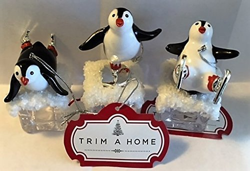Penguin Ice Cube Christmas Ornaments (Set of 3) K Mart Christmas Decorations