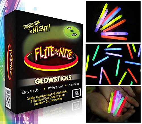 Flite by Nite Glow Stick Refills, Assorted Colors ()