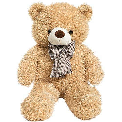 iBonny Teddy Bear Stuffed Animals Plush Soft Cuddly Bear 32 Inch Tan ()