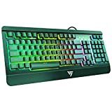 VicTsing Rainbow LED Backlit Gaming Keyboard Wired, Anti-ghosting...