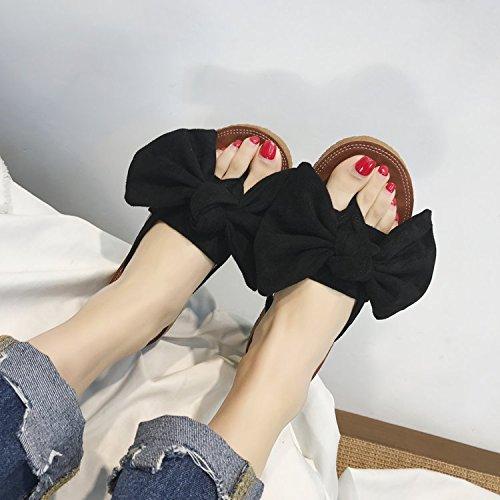 des Chaussons Sandales Souple Flip Flops black Semelle Plate été prape Semelle 4PntTB8