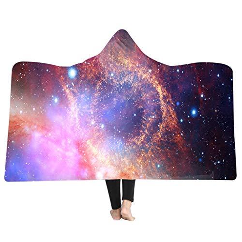 MONISE-honme Soft Cloak Wearable Hooded Blanket for Adult,Lazy Quilt, Hooded Cloak Hooded Blanket 3D Galaxy Star Print Super Soft(A) (Bar Riverdale)