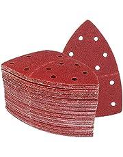 Triángulos de Molienda Prio │ 50 piezas │ 11 agujeros │ 105 x 152 mm │ grano 100 │ para poliquenales │ Cuchillas de Molienda │ Almohadillas de Molienda Triangulares │ Papel de Molienda │ Hojas de Lija