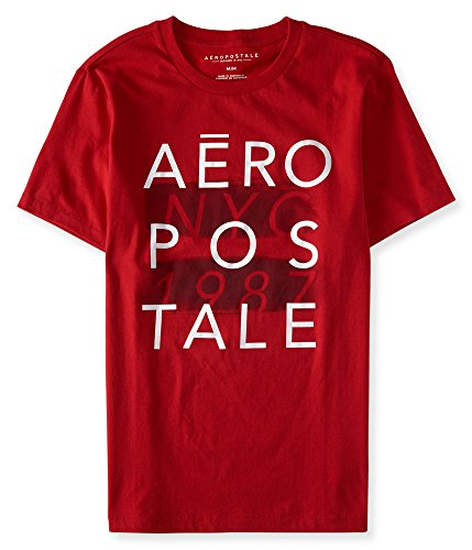 aeropostale-mens-aropostale-nyc-graphic-t-shirt-m-red-sky
