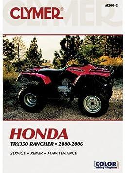 Clymer Repair Manuals for Honda RANCHER 350 4X4 2000-2006