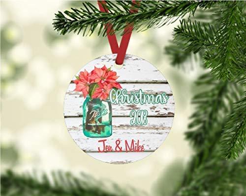 Amazon Com Personalized Mason Jar Christmas Ornament Handmade