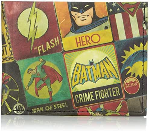 Dynomighty Men's Billfold Justice League Panels
