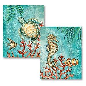 51jK3NTStEL._SS300_ Seahorse Wall Art & Seahorse Wall Decor