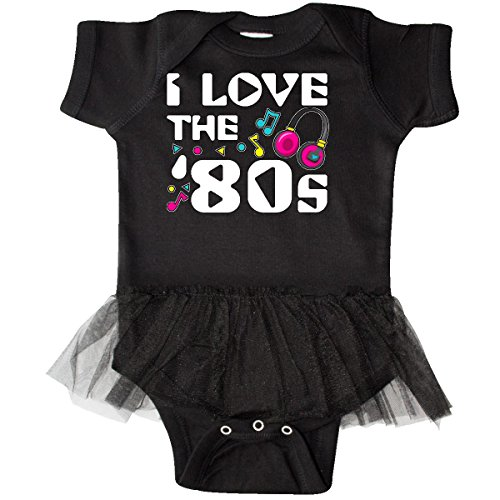 inktastic - I Love The '80s-Musical Infant Tutu Bodysuit 6 Months Black (Old School Baby Clothes)