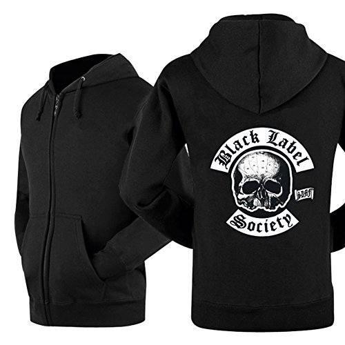 Kigcos Black Label Society Viking Hooded Sweatshirt Casual Unisex Hoodie Coat (Medium)