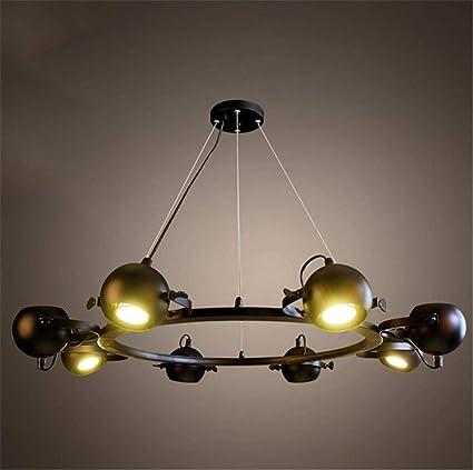 PLLP Iluminación Interior Lámparas Lámparas Tiendas de Ropa Bares Cafeterías Restaurante Retro Lámpara de Hierro Iluminación