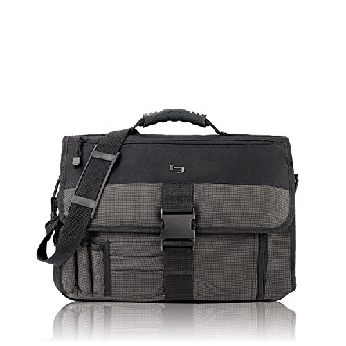 Solo Classic Collection Expandable Messenger Bag, Black (Expandable Organizer Brief Bag)