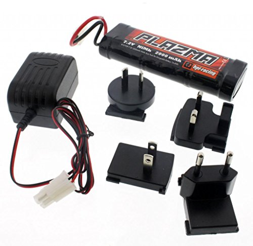 HPI 1/12 Wheely King 4x4 PLAZMA 7.2V 2000mAh NiMH BATTERY & CHARGER 6 Cell
