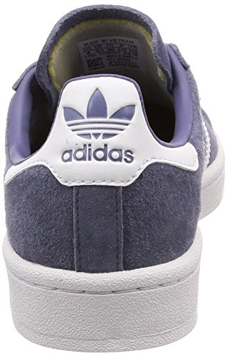 adidas Campus, Sneaker Uomo Viola (Raw Indigo S18/Ftwr White/Crystal White Raw Indigo S18/Ftwr White/Crystal White)