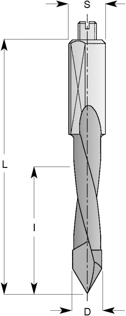 D 24 mm 10 mm L 77 mm 5 mm Rechts D I 45 mm ENT 23240 Durchgangsbohrer HW C HM Durchmesser Schaft