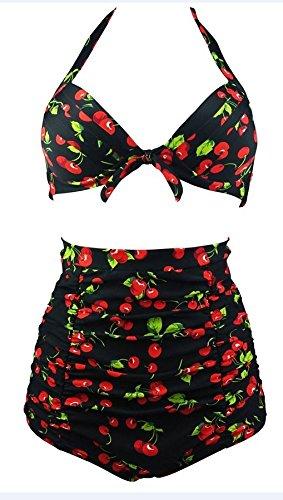 HOTAPEI Vintage Floral Bikini Swimsuit