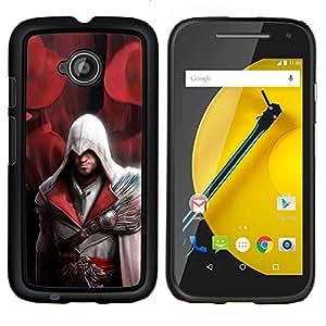 LECELL--Funda protectora / Cubierta / Piel For Motorola Moto E2 E2nd Gen -- Assassin Pirata --