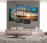Cao Gen Decor Art-S70448 4 Panels Wall Art Waves
