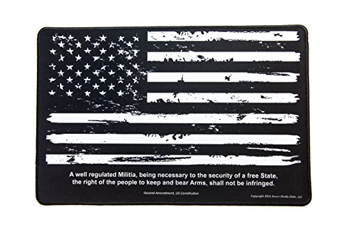 Gun Cleaning Mat 11'x17' - Distressed Flag & 2nd Amendment