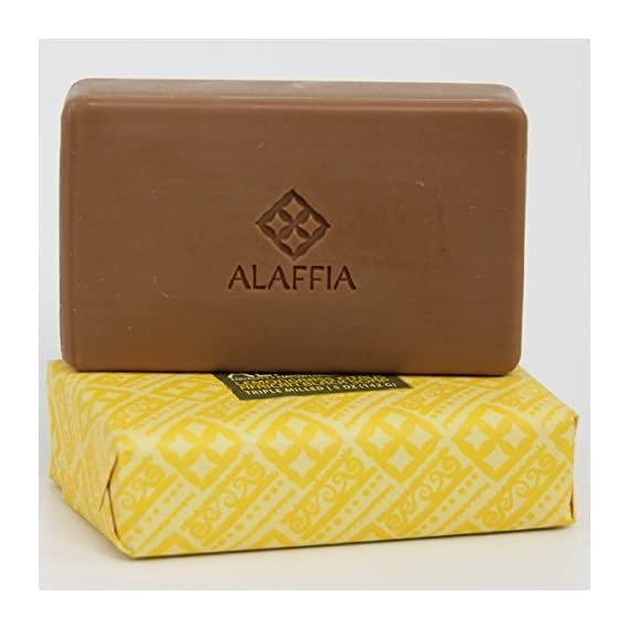 Alaffia Fair Trade Shea Butter Triple Milled Soap, 5 oz Bar 3 100% Fair Trade Ingredients Triple-Milled for Long Lasting Use No Synthetic Fragrance