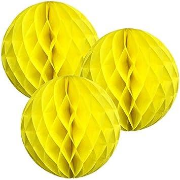 20/cm Pack of 3 Papier Wabenb/älle mehrere Farben erh/ältlich grau Matissa 20,3/cm