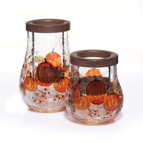 Yankee Candle Pumpkin Crackle Tea Light Candle Holder by Yankee Candle (Image #1)